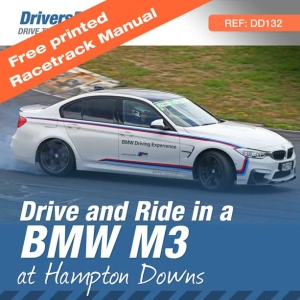 BMW M3 Drive and Hot laps Experience at Hampton Downs, Waikato