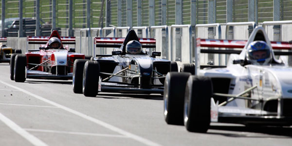 Single Seaters in pit lane