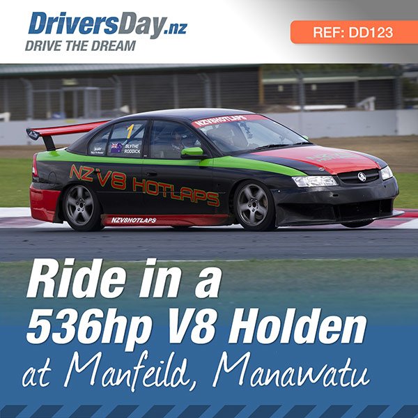 Hot lap ride in a v8 holden at manfeild