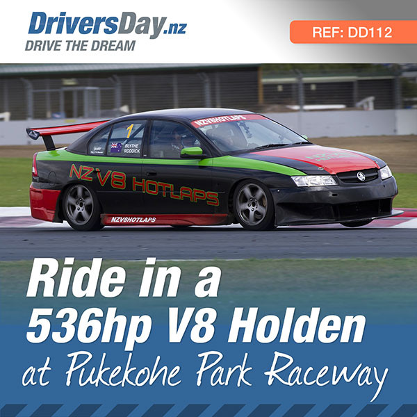 Ride in a v8 holden pukekohe