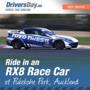 ride in an RX8 race car at pukekohe