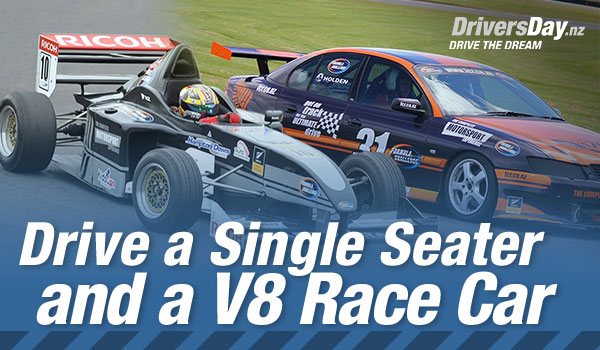 single seater and a v8 driving experiences