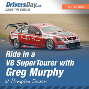 hot lap rides with Greg Murphy in a V8 SuperTourer