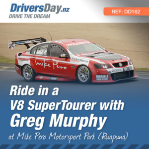 ride in a v8 supertourer-with greg murphy christchurch