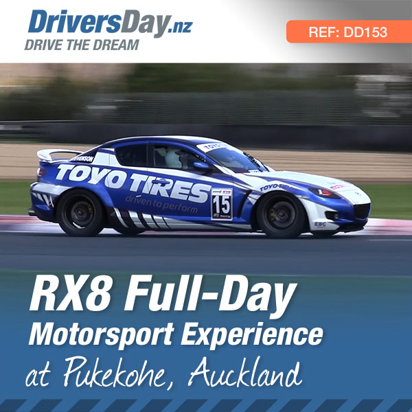 All day RX8 motorsport experience at Pukekohe